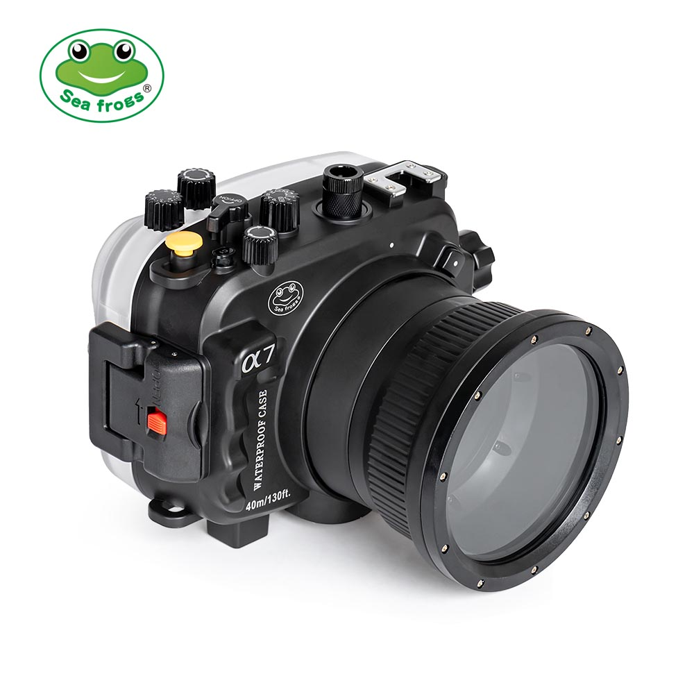 SeaFrogs 40m/130ft Sony A7 NG Series underwater camera housing with 28-70mm lens standard port