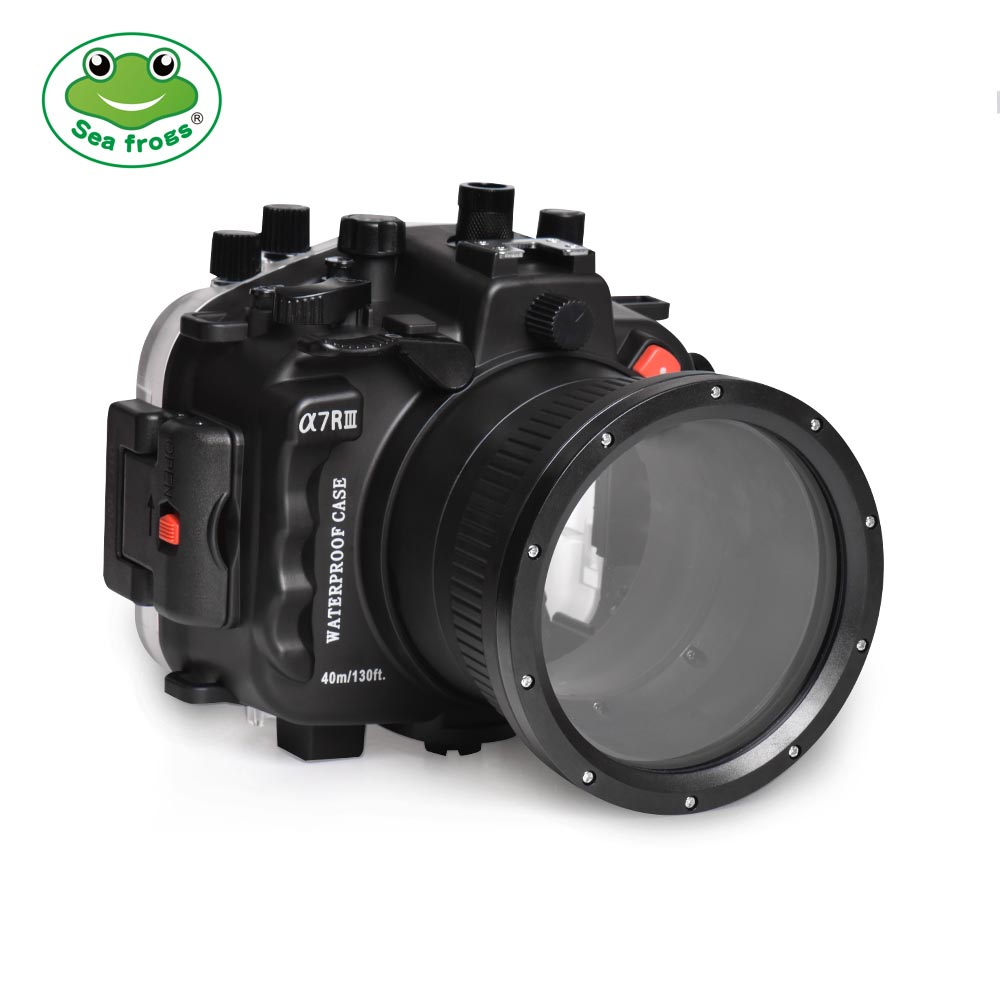 Sony A7R III 40M/130FT Underwater camera housing with 28-70mm standard port
