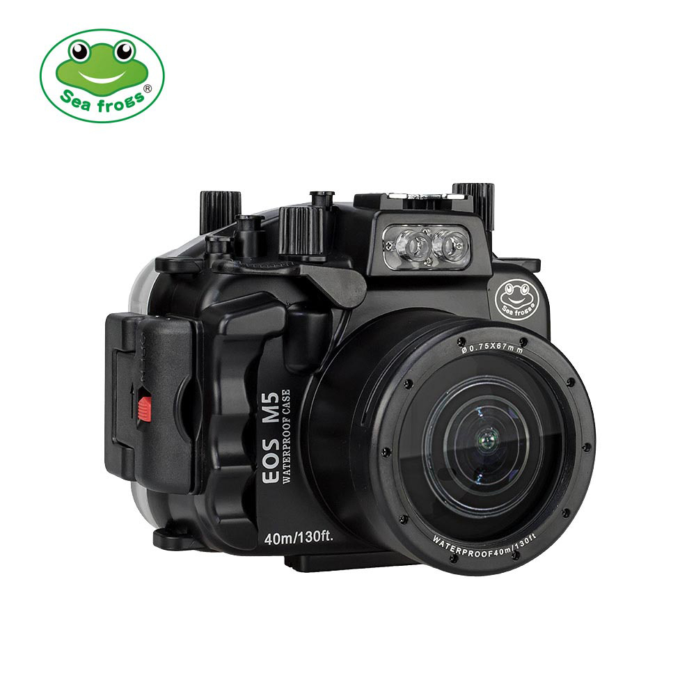 Canon EOS M5 ( 18-55mm ) 40m/130ft SeaFrogs Underwater Camera Housing