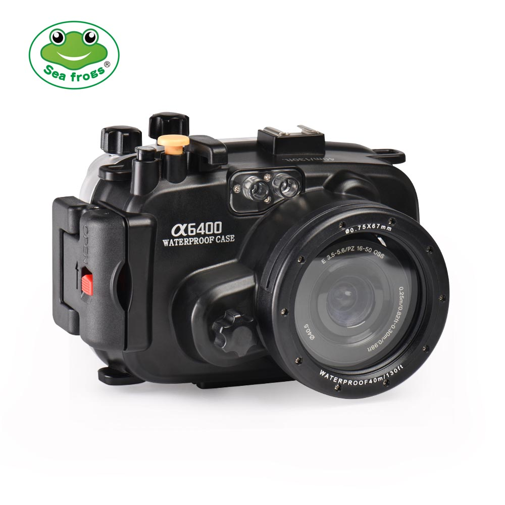 SeaFrogs 40M/130FT Waterproof housing for Sony A6400 (16-50mm)