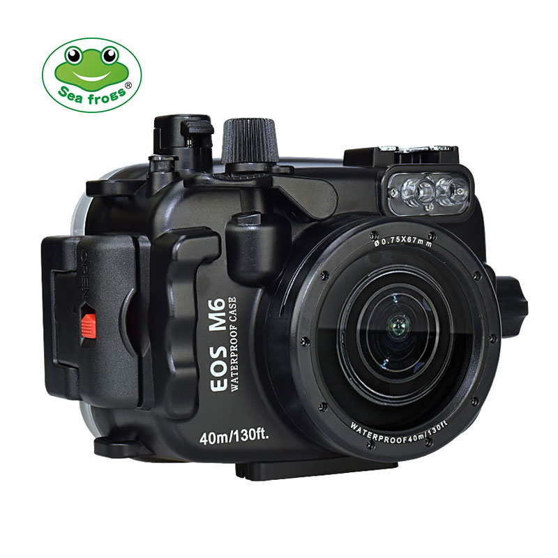 Canon EOS M6 ( 22mm ) 40m/130ft SeaFrogs Underwater Camera Housing