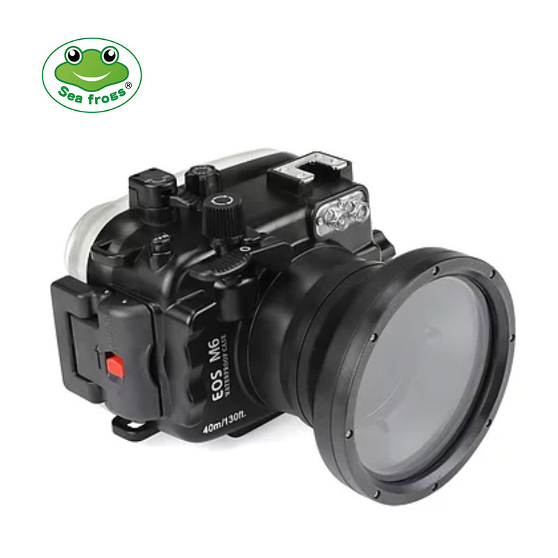 Canon EOS M6 ( 18-55mm ) 40m/130ft SeaFrogs Underwater Camera Housing