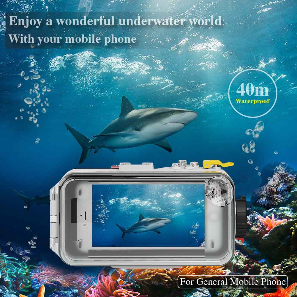 bluetooth 40M/130FT scuba diving general mobile housing for andriod and iphone