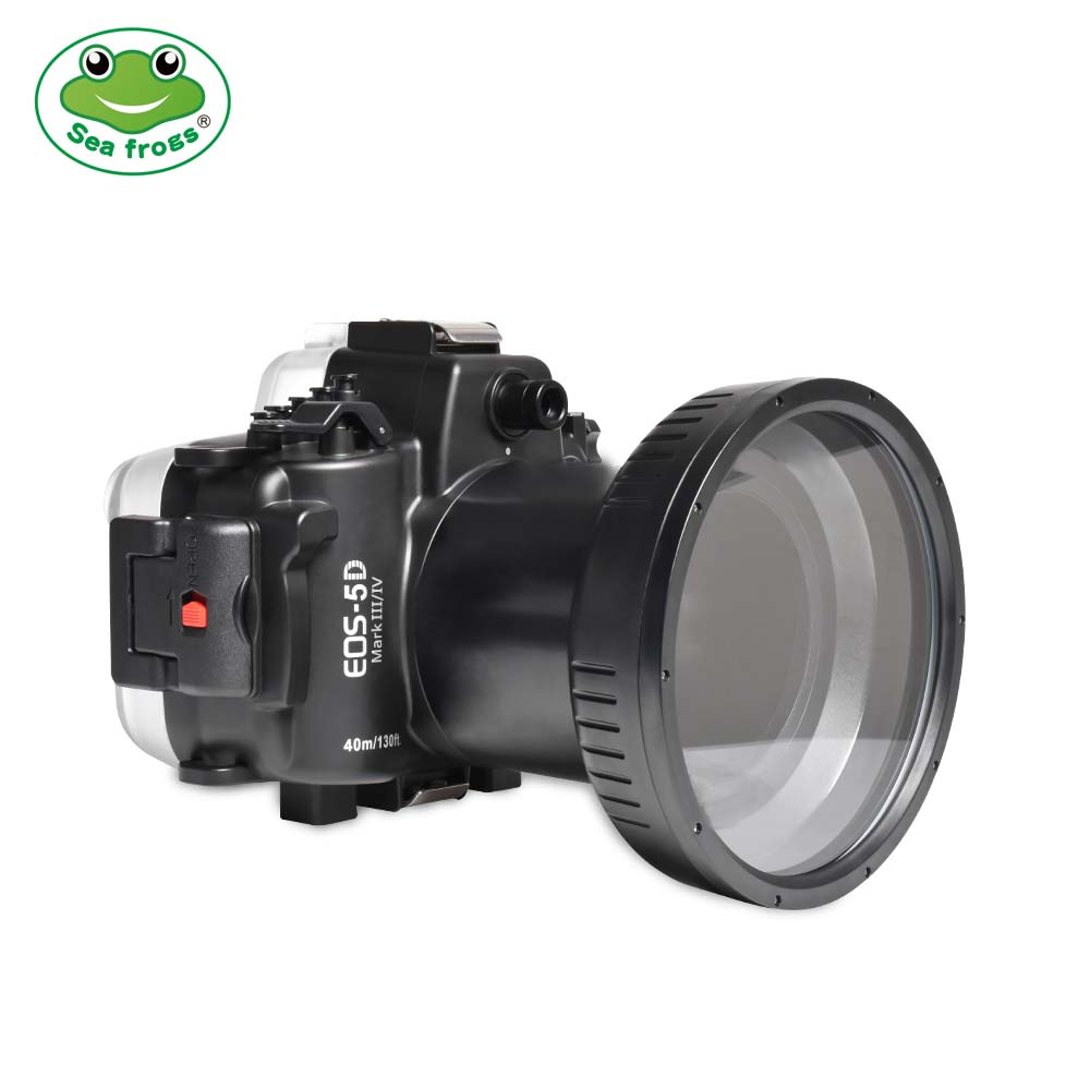 Seafrogs 40m/130ft Underwater Camera Housing  For Canon EOS 5D Mark III IV (100mm)