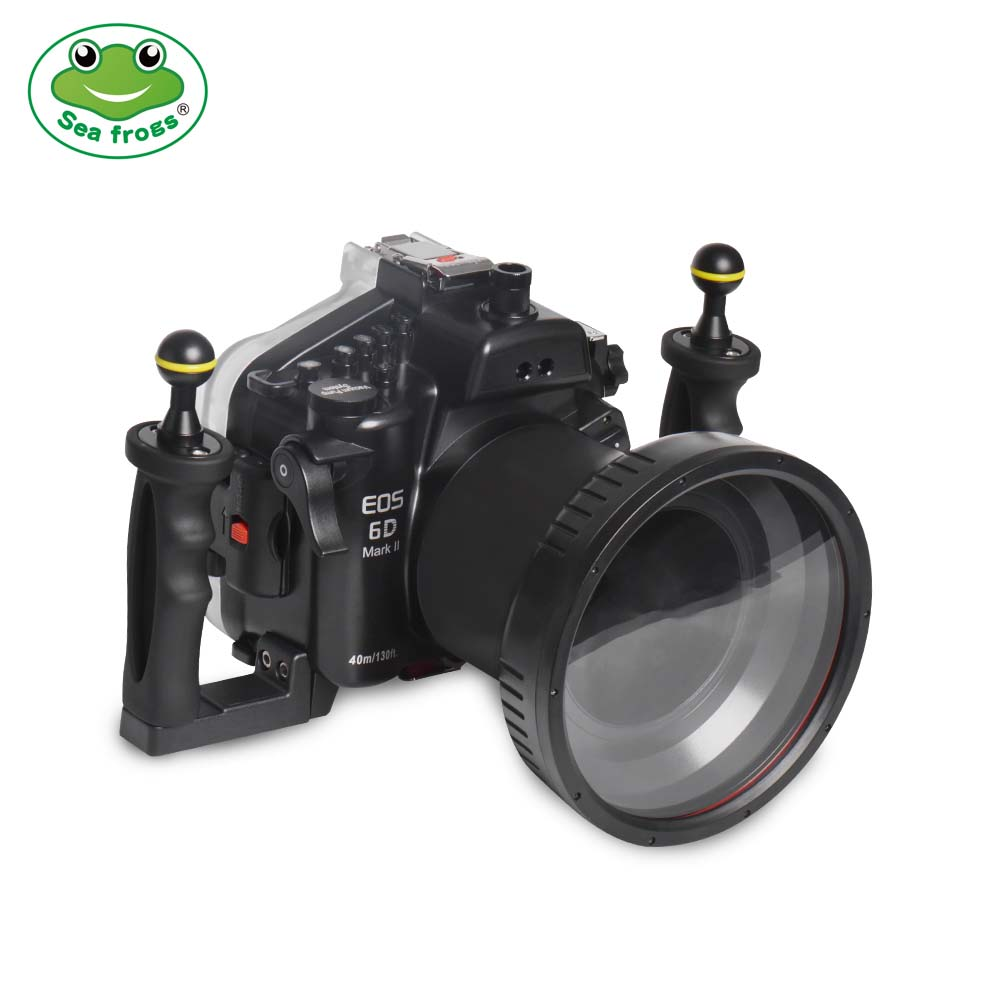 Seafrogs 40m/130ft Underwater Camera Housing With Flat Port  For Canon EOS 6D Mark II