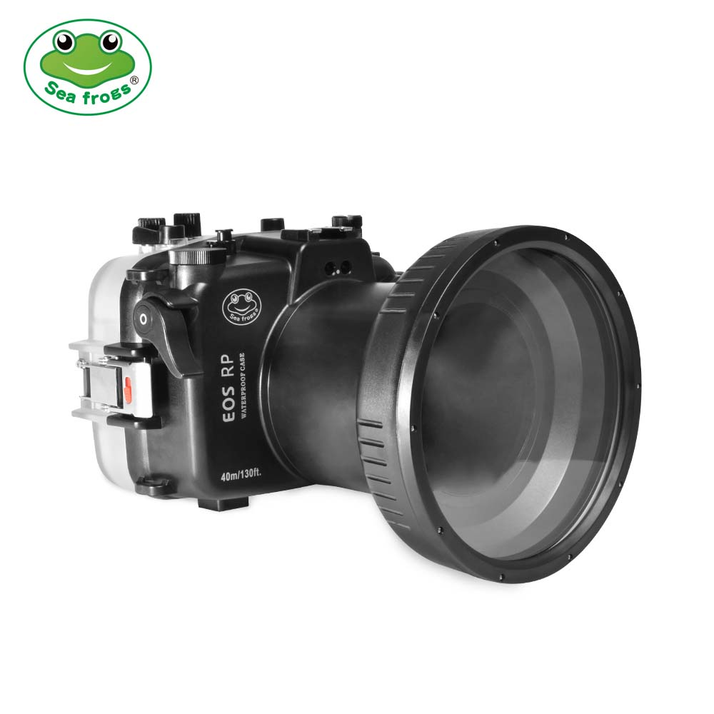 Seafrogs 40m/130ft Underwater Camera Housing With Flat Port For Canon EOS RP