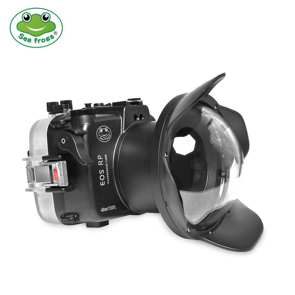 Seafrogs 40m/130ft Underwater Camera Housing With Dome Port For Canon EOS RP