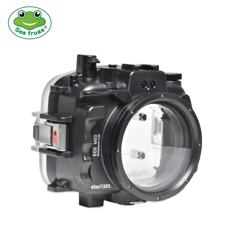 Seafrogs 40m/130ft Underwater Camera Housing For Canon EOS M50 (22mm)