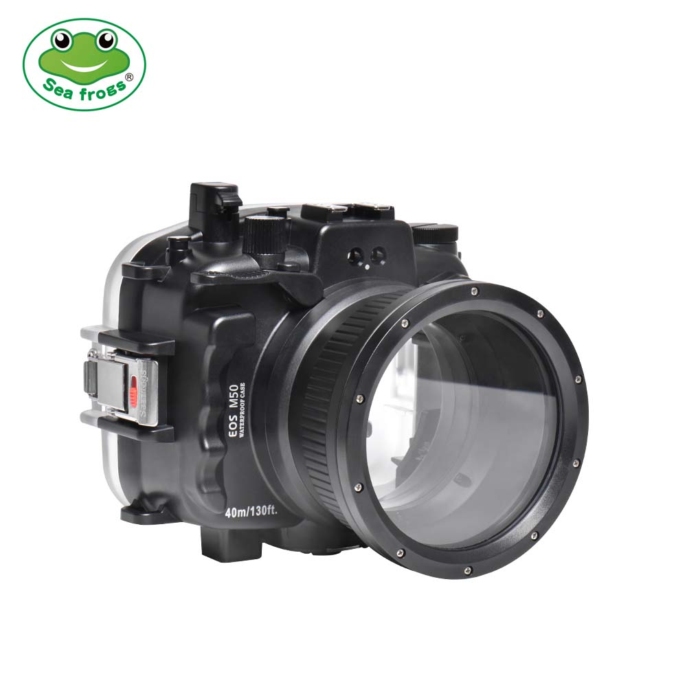 Seafrogs 40m/130ft Underwater Camera Housing For Canon EOS M50 (18-55mm) ( 15-45mm)