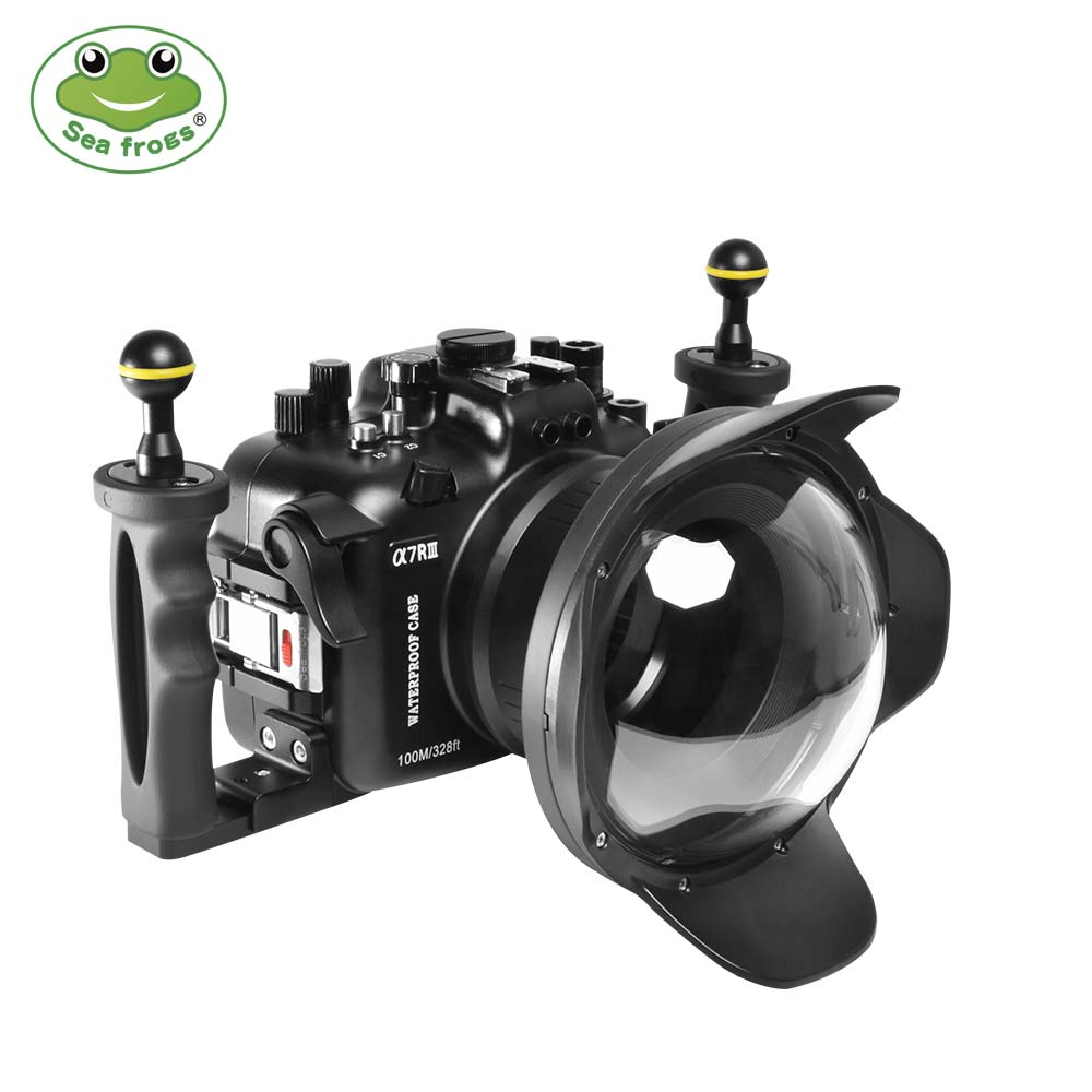 100M/325FT waterproof case with dome port for Sony A7R-III/A7-III (16-35mm)